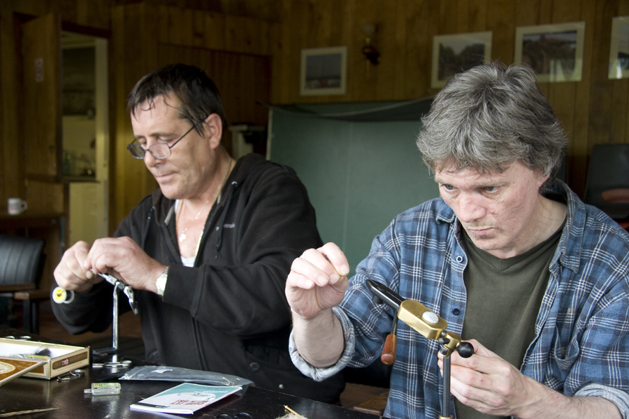 Fly tying at Cramond Angling club